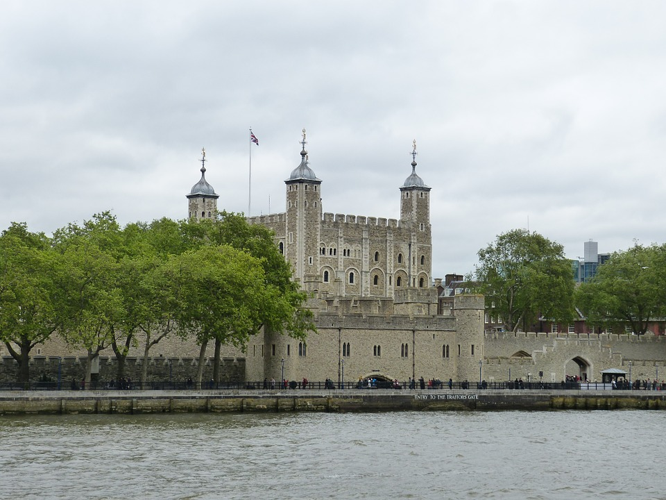 The Tower of London in London, England