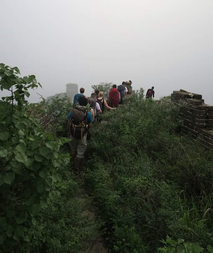camping great wall of china