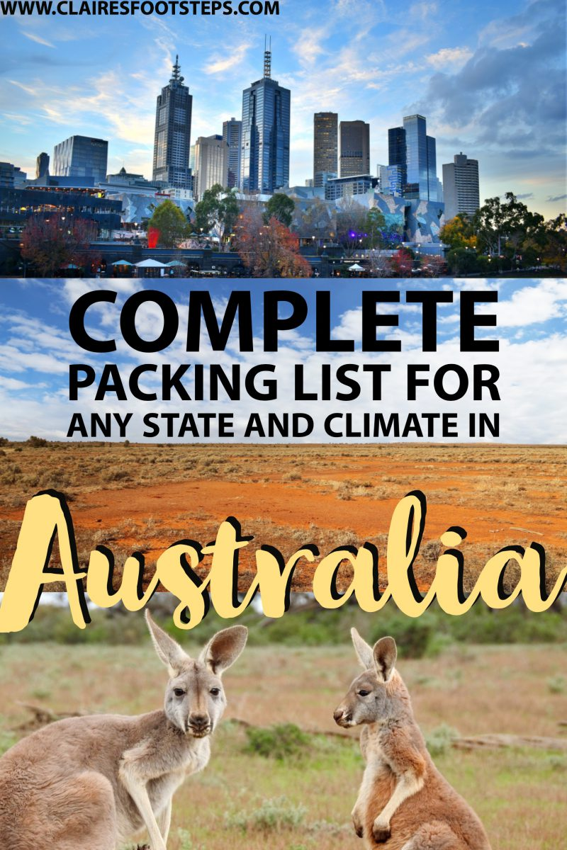 Check out this Australia packing list for ideas on what to pack for Australia, no matter what climate. Whether you're wondering what to take to Australia in winter or summer, this guide has you covered! It also mentions some great travel gear to take to Australia and what you'll need for every activity - from tanning on the beach to hiking in the mountains!