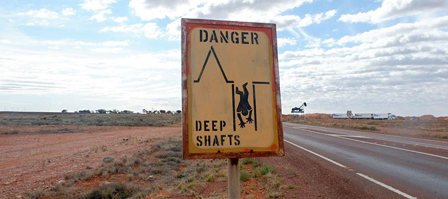 Deep Shafts Sign, Coober Pedy