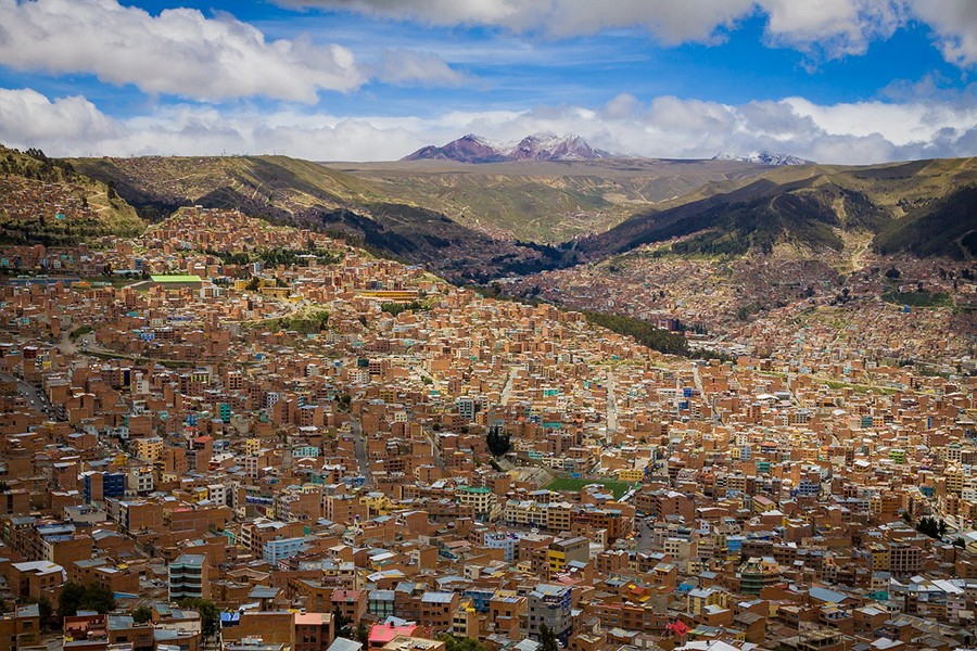 View over La Paz Bolivia Itinerary