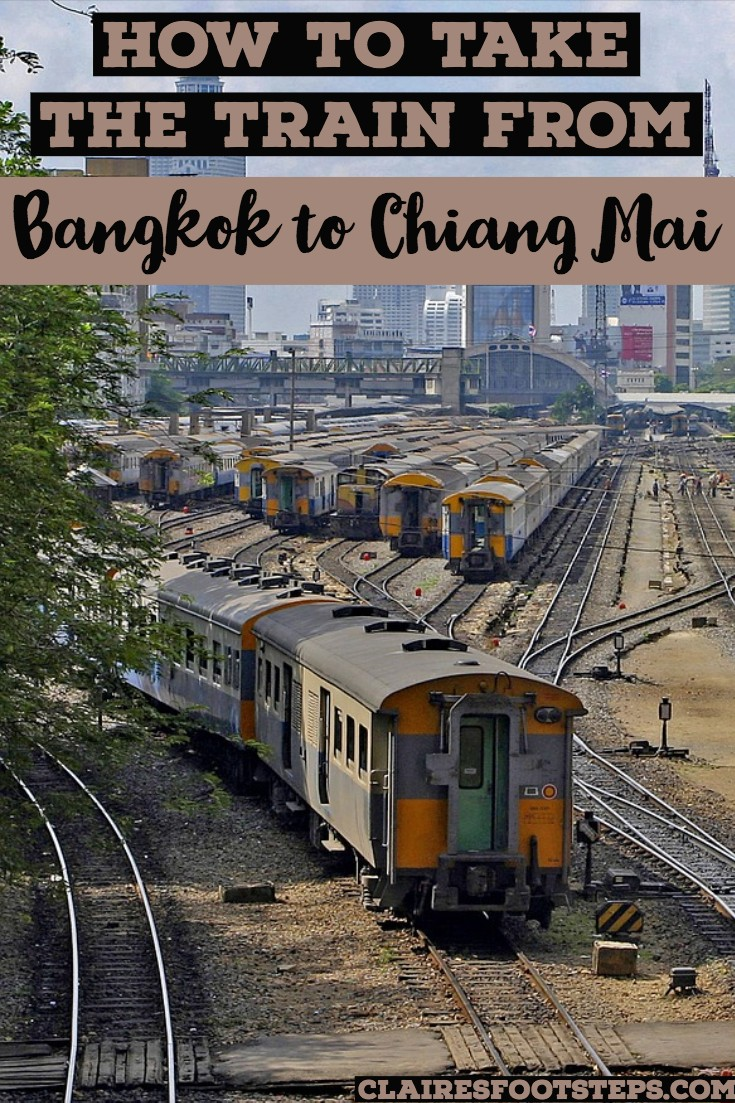 If you're wondering how to take the train from Bangkok to Chiang Mai or reverse - the Chiang Mai to Bangkok Train - check this post out for Thailand travel tips and all you need to know about taking the Bangkok to Chiang Mai train or the train from Chiang Mai train! Including everything you need to know about taking the trains in Thailand. #thailand #traintravel