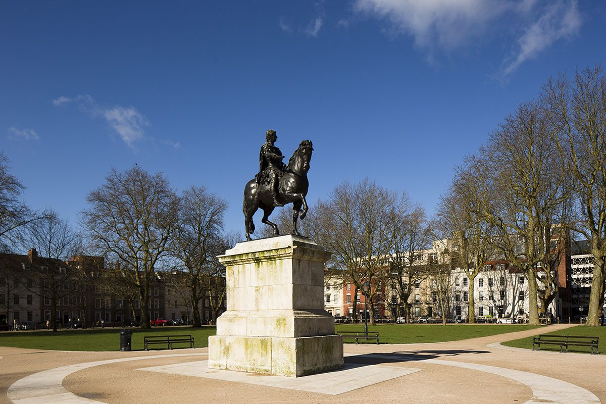 Statue of William III in Queen Square, Bristol