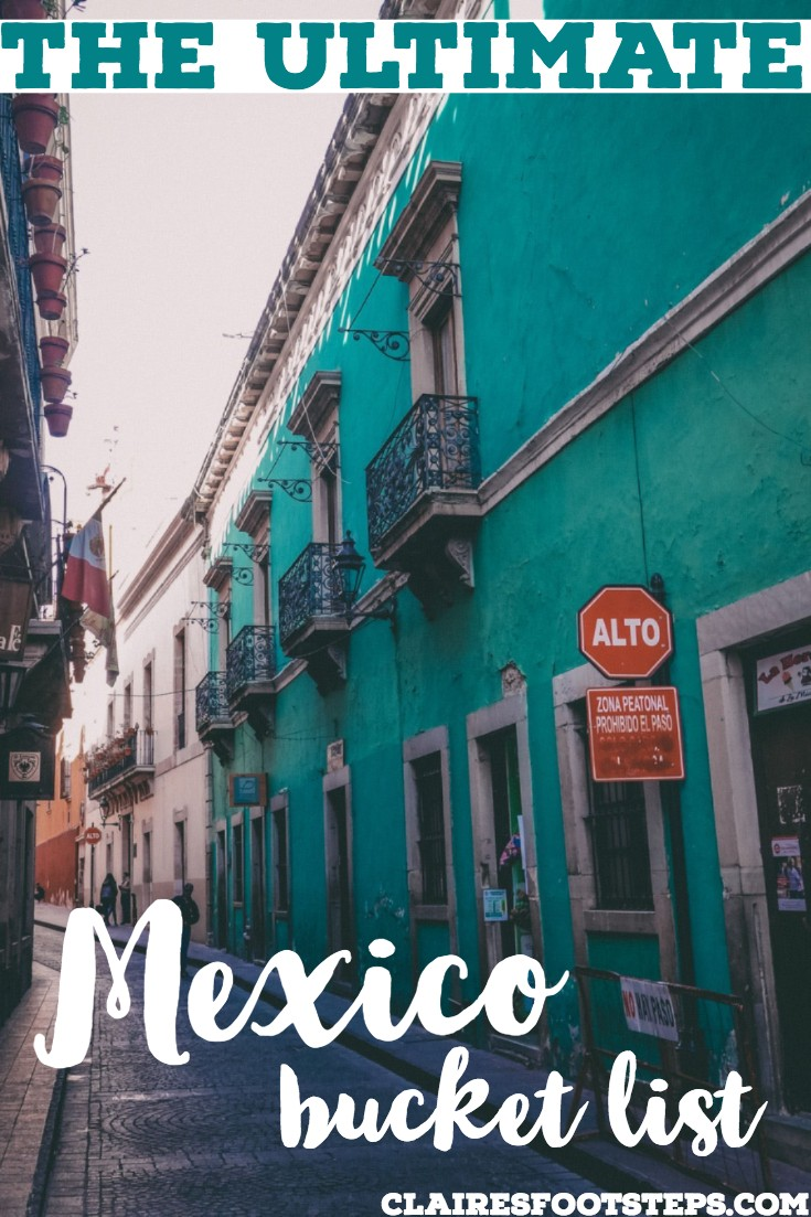 Would you like to visit Mexico? If you're interested in Mexico travel, be sure to check out this ultimate Mexico bucket list. Featuring all the best things to do in Mexico, places to visit in Mexico, nature in Mexico, cities in Mexico, Pueblos Magicos in Mexico, diving in Mexico, surfing in Mexico and more, here is your best Mexican bucket list. #mexico #bucketlist #mexicancities