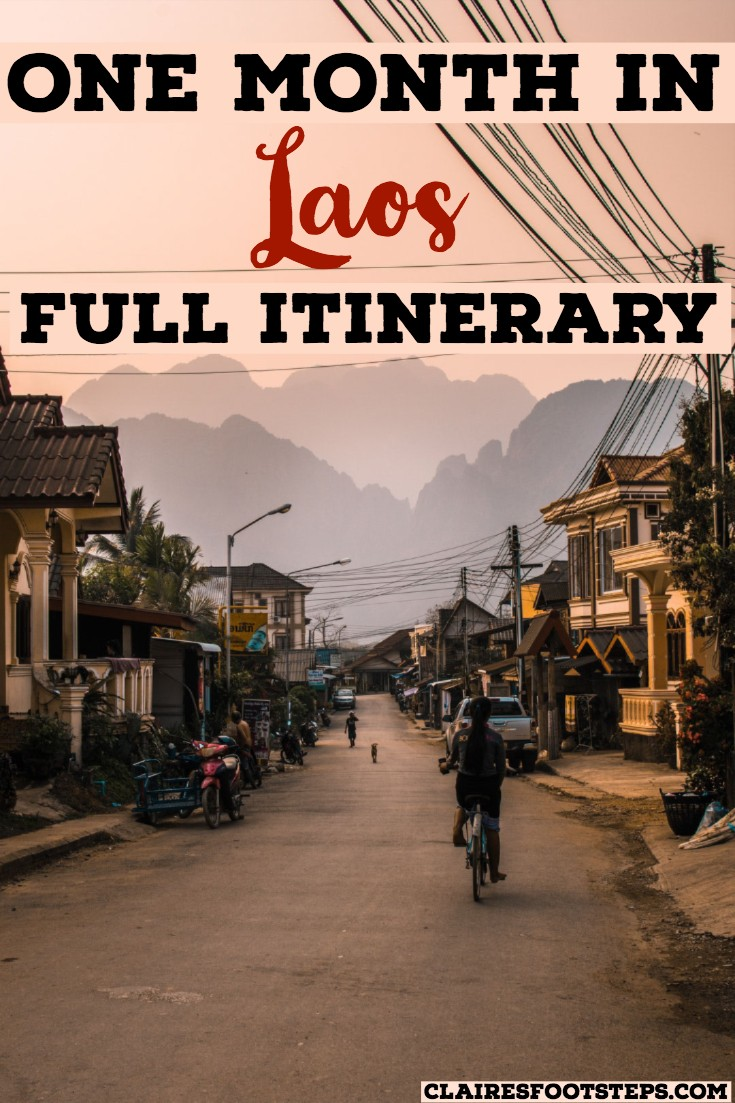 Are you searching for the best things to do in Laos? If you're interested in Laos travel, then check out this Laos itinerary. Featuring the best things to do in Luang Prabang, the best things to do in Vang Vieng and the best things to do in Vientiane, this one month in Laos, two weeks in Laos, three weeks in Laos or one week in Laos itinerary will help you when planning a trip to South East Asia.