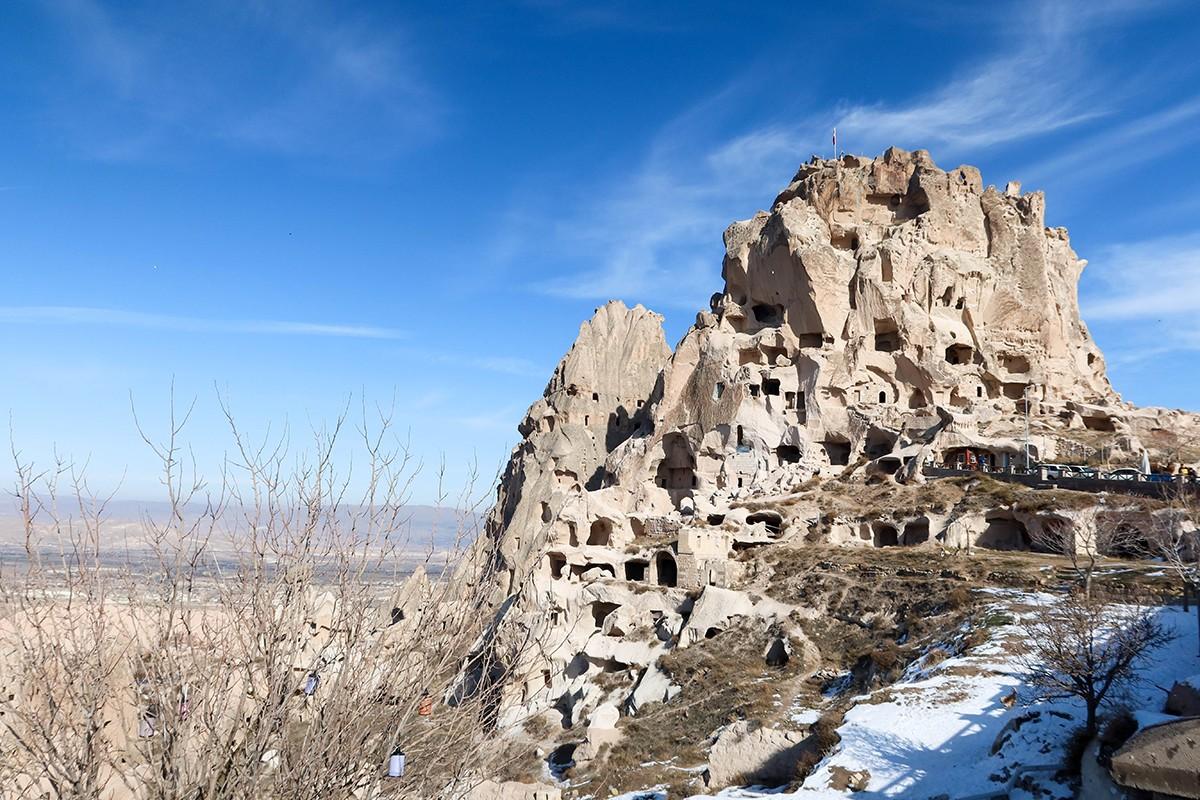 Cappadocia in Winter Uchasair Castle
