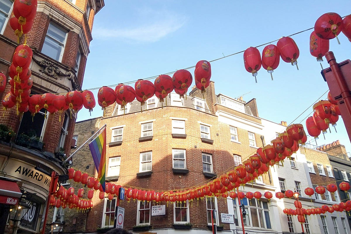 Chinese lanterns in Chinatown, London