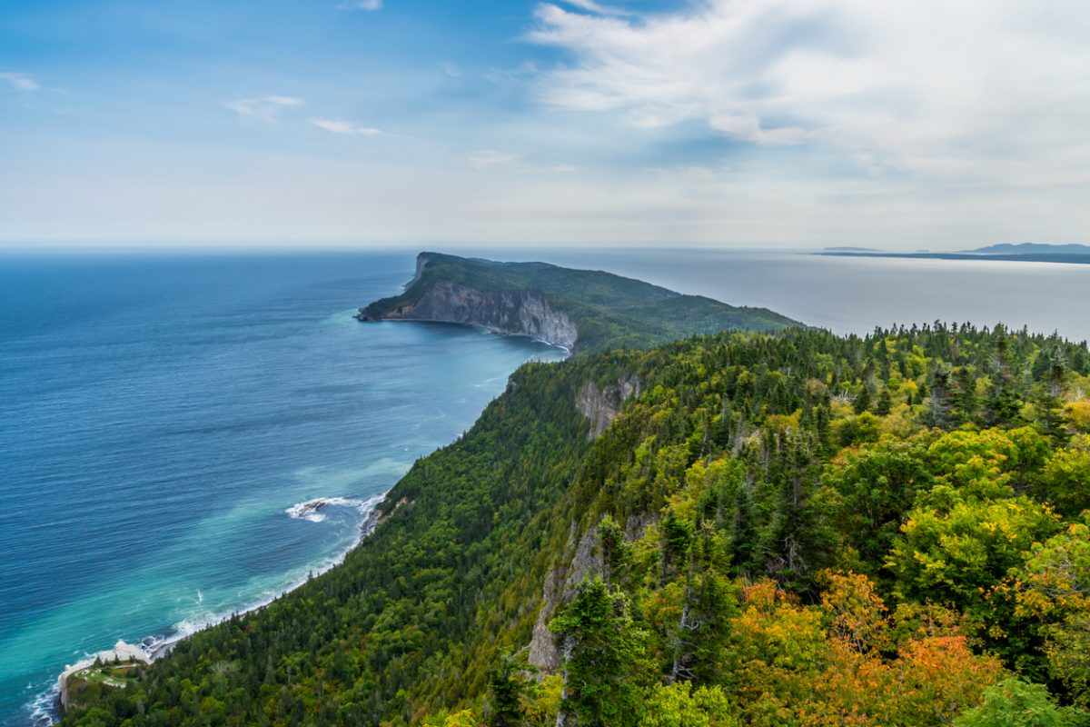 Forillon National Park view from Mont-Saint-Alban lookout (Canada, Quebec, Gaspésie)